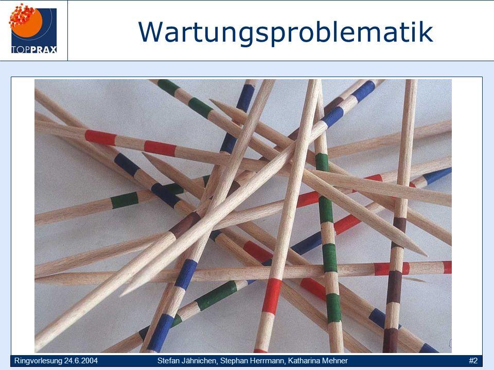 Ringvorlesung 24.6.2004Stefan Jähnichen, Stephan Herrmann, Katharina Mehner#2 Wartungsproblematik
