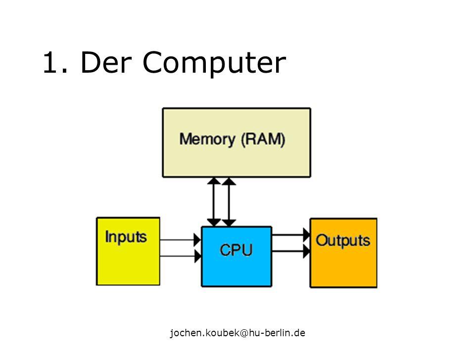 jochen.koubek@hu-berlin.de 1. Der Computer