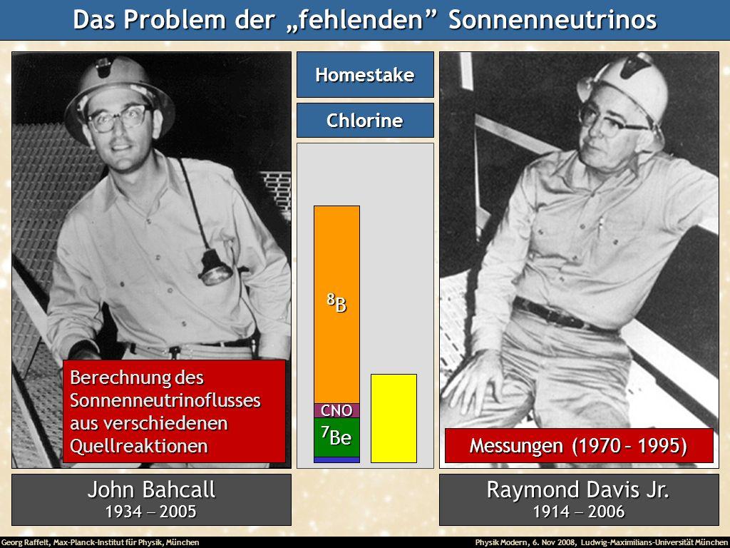 Georg Raffelt, Max-Planck-Institut für Physik, München Physik Modern, 6. Nov 2008, Ludwig-Maximilians-Universität München John Bahcall 1934 2005 Raymo