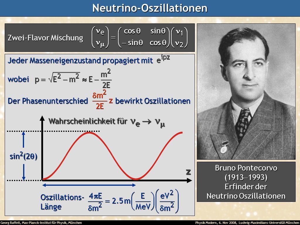 Georg Raffelt, Max-Planck-Institut für Physik, München Physik Modern, 6. Nov 2008, Ludwig-Maximilians-Universität MünchenNeutrino-Oszillationen Zwei-F