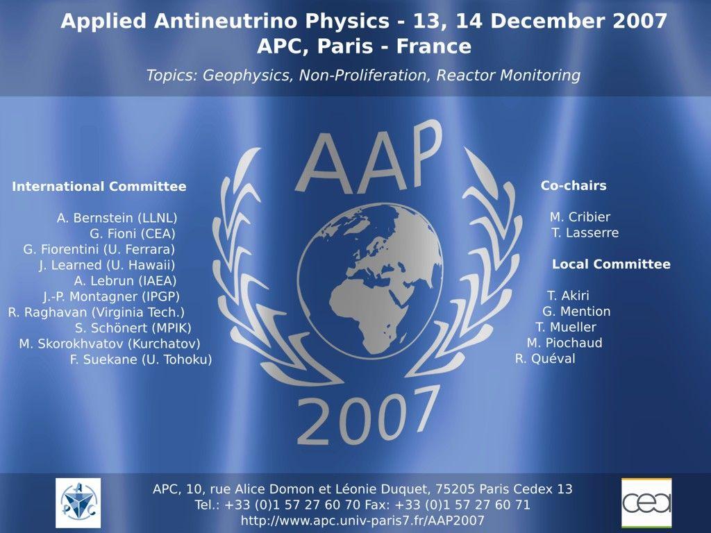 Georg Raffelt, Max-Planck-Institut für Physik, München Physik Modern, 6. Nov 2008, Ludwig-Maximilians-Universität München Applied Antineutrino Physics