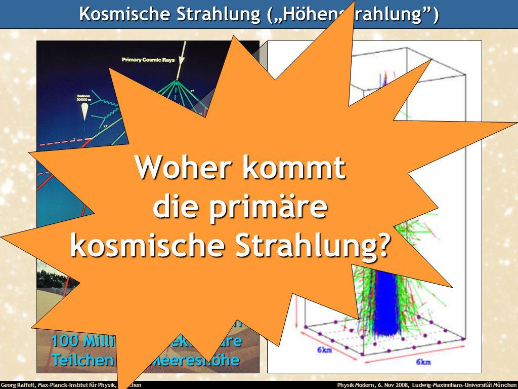 Georg Raffelt, Max-Planck-Institut für Physik, München Physik Modern, 6. Nov 2008, Ludwig-Maximilians-Universität München Kosmische Strahlung (Höhenst