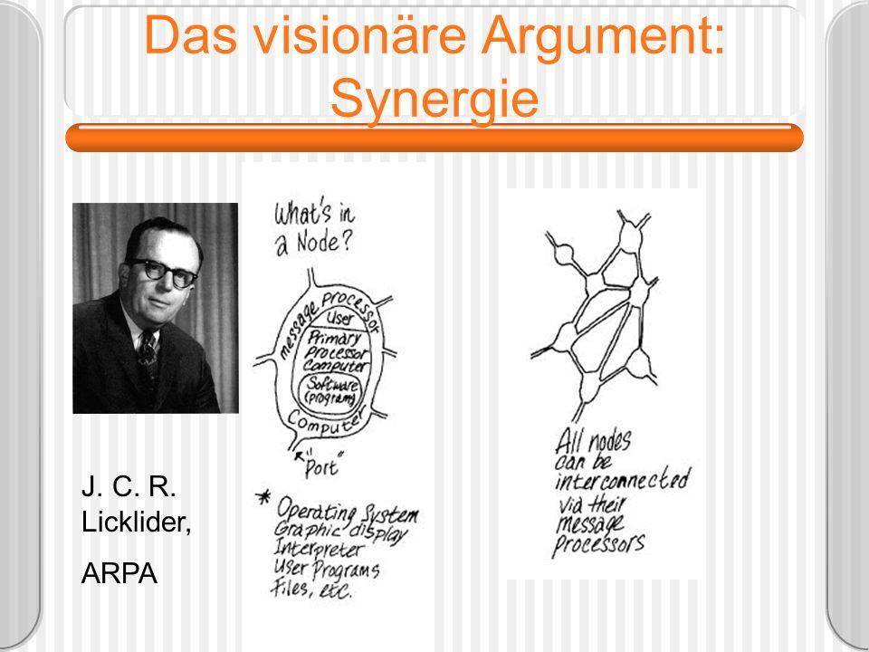Das visionäre Argument: Synergie J. C. R. Licklider, ARPA