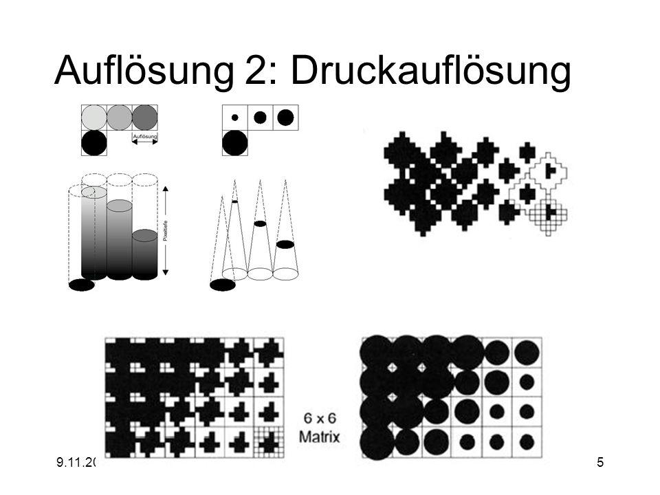 9.11.2000jochen.koubek@hu-berlin.de5 Auflösung 2: Druckauflösung
