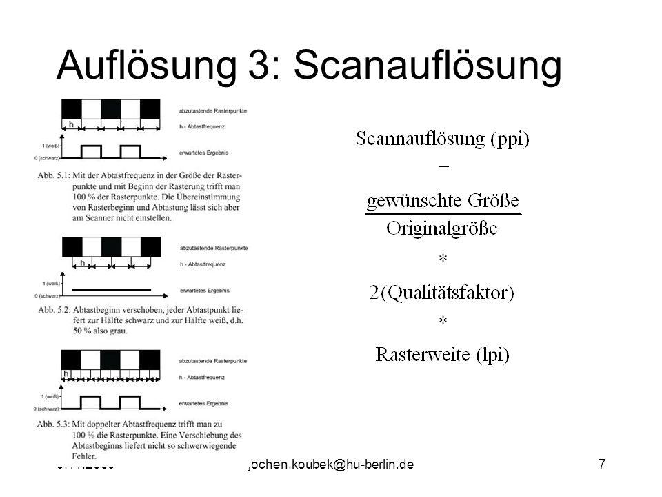 9.11.2000jochen.koubek@hu-berlin.de7 Auflösung 3: Scanauflösung