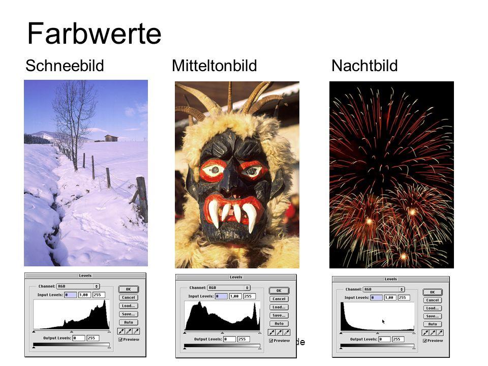 9.11.2000jochen.koubek@hu-berlin.de8 Farbwerte SchneebildMitteltonbild Nachtbild