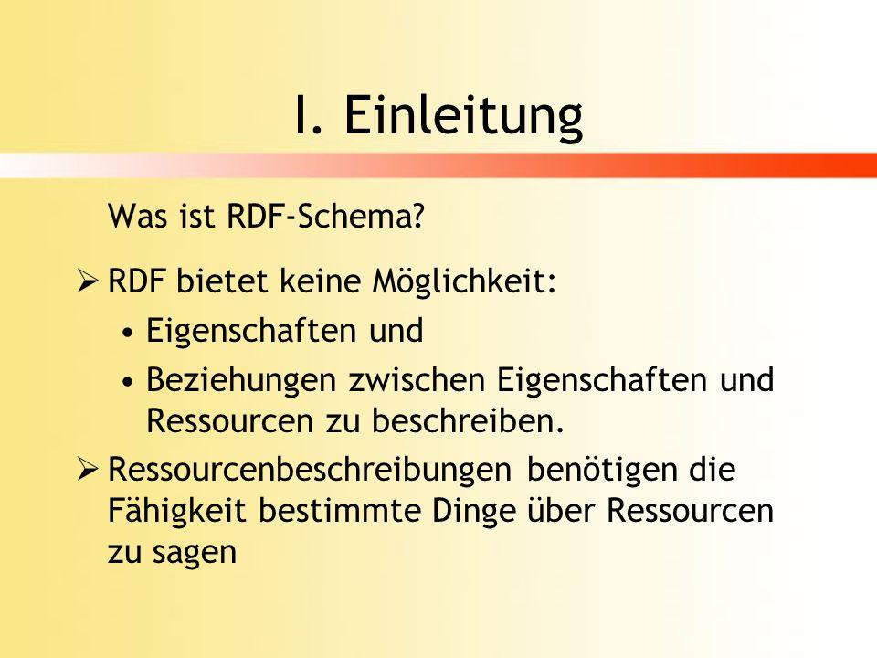 RDF-Schema kein Schema.