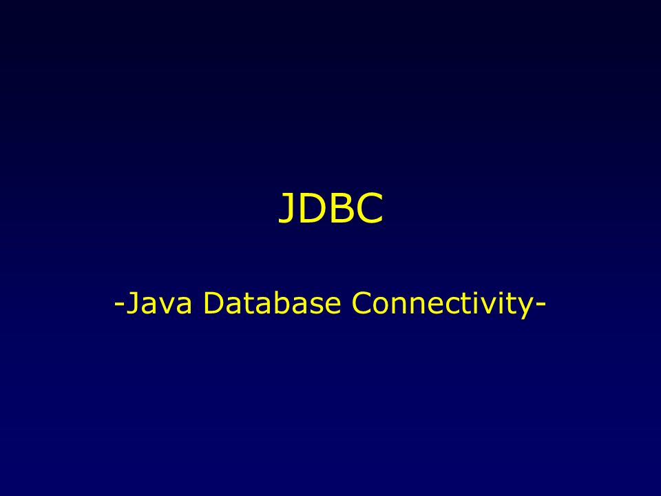 15./22.April 2004JDBC2 JDBC.... verbindet Java-Programme mit SQL-basierten Datenbanken..