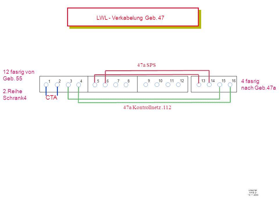 LWL - Verkabelung Geb.47 1 234 12 fasrig von Geb.