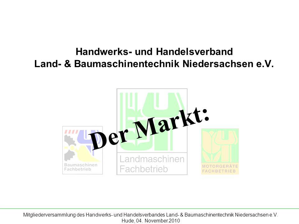 Mitgliederversammlung des Handwerks- und Handelsverbandes Land- & Baumaschinentechnik Niedersachsen e.V. Hude, 04. November.2010 Handwerks- und Handel