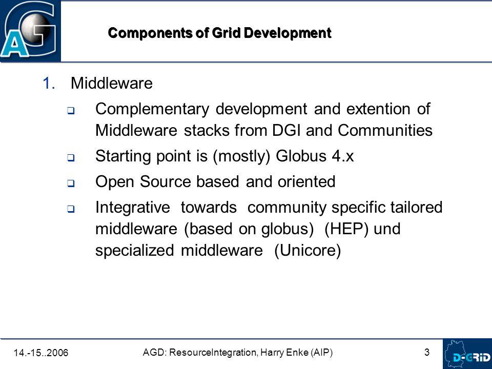 4 AGD: ResourceIntegration, Harry Enke (AIP) 14.-15..2006 2.