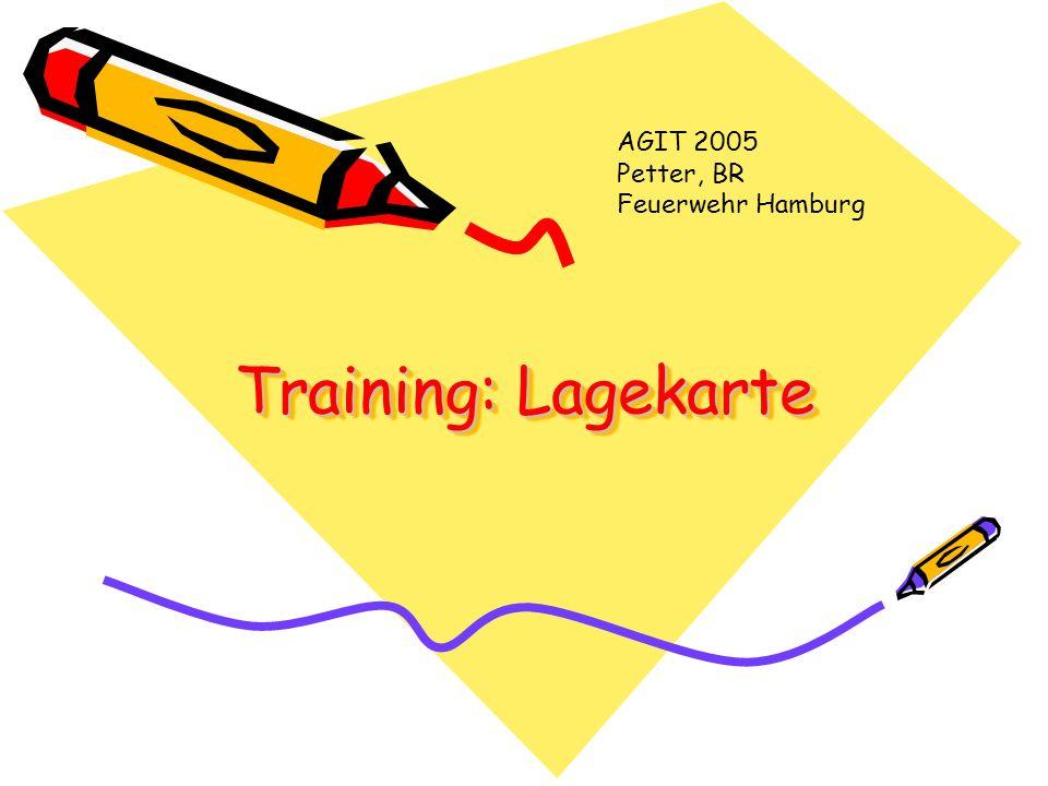 Training: Lagekarte AGIT 2005 Petter, BR Feuerwehr Hamburg