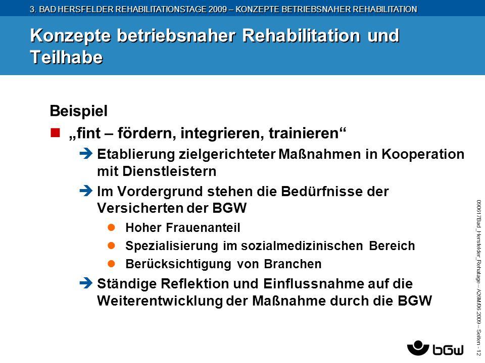 3. BAD HERSFELDER REHABILITATIONSTAGE 2009 – KONZEPTE BETRIEBSNAHER REHABILITATION 090617Bad_Hersfelder_Rehatage – A26M/ 06.2009 – Seiten - 12 Konzept