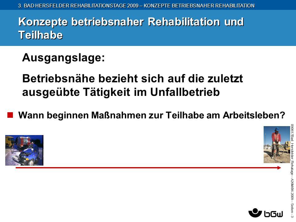 3. BAD HERSFELDER REHABILITATIONSTAGE 2009 – KONZEPTE BETRIEBSNAHER REHABILITATION 090617Bad_Hersfelder_Rehatage – A26M/ 06.2009 – Seiten - 3 Konzepte