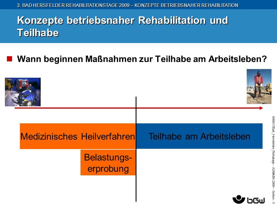 3. BAD HERSFELDER REHABILITATIONSTAGE 2009 – KONZEPTE BETRIEBSNAHER REHABILITATION 090617Bad_Hersfelder_Rehatage – A26M/ 06.2009 – Seiten - 5 Konzepte