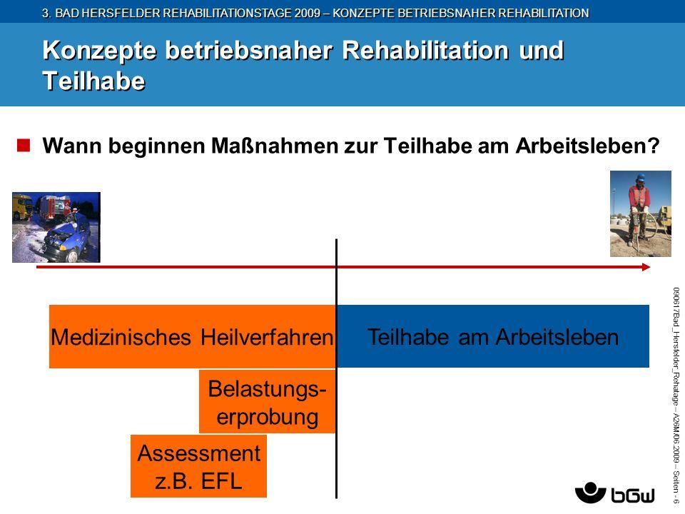 3. BAD HERSFELDER REHABILITATIONSTAGE 2009 – KONZEPTE BETRIEBSNAHER REHABILITATION 090617Bad_Hersfelder_Rehatage – A26M/ 06.2009 – Seiten - 6 Konzepte