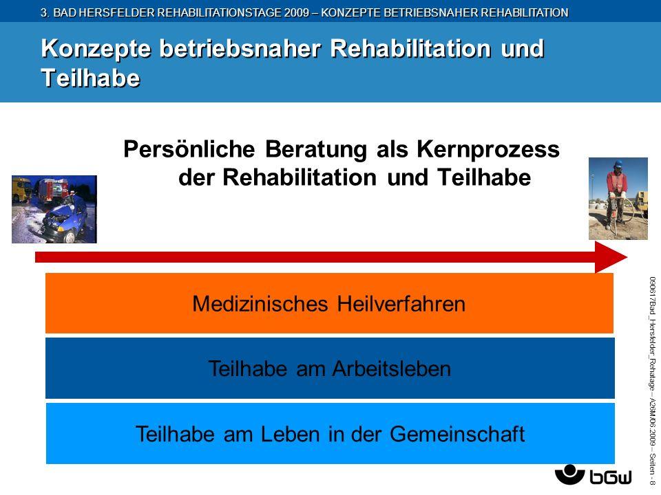 3. BAD HERSFELDER REHABILITATIONSTAGE 2009 – KONZEPTE BETRIEBSNAHER REHABILITATION 090617Bad_Hersfelder_Rehatage – A26M/ 06.2009 – Seiten - 8 Konzepte