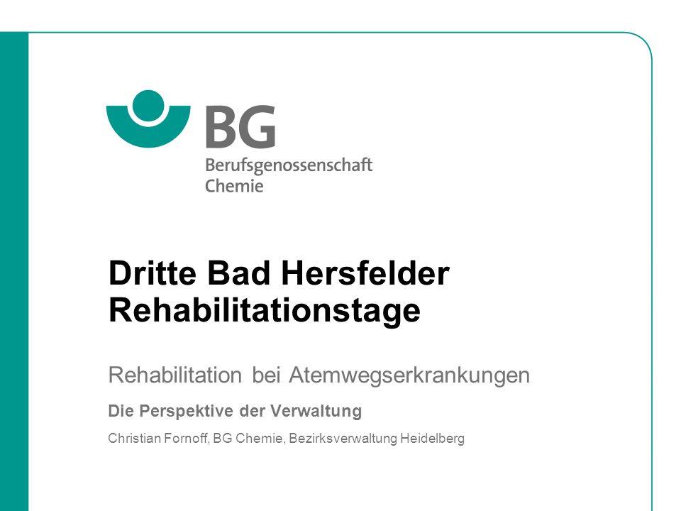 Dritte Bad Hersfelder Rehabilitationstage; Christian Fornoff, 16.06.2009 Seite 12 Rehabilitation bei Atemwegserkrankungen J.