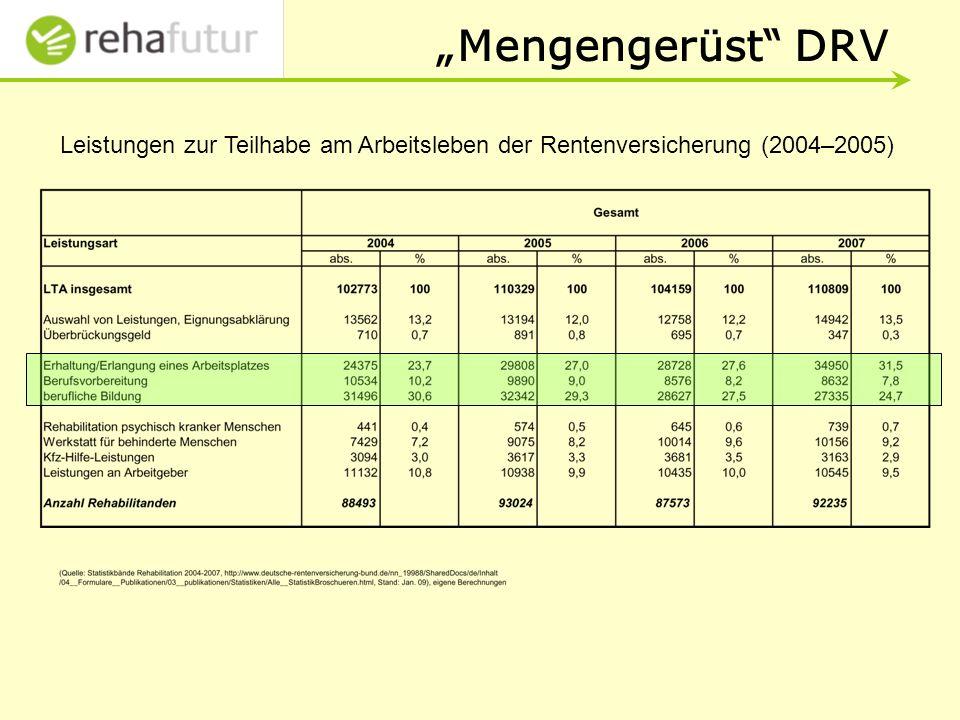 Leistungen zur Teilhabe am Arbeitsleben der Rentenversicherung (2004–2005)