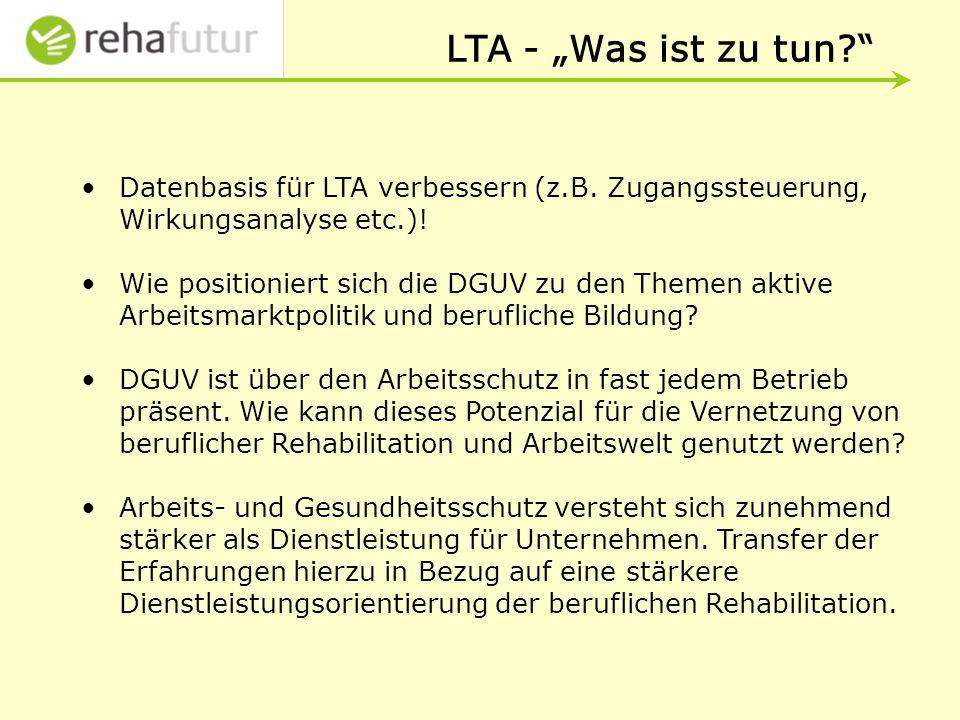 LTA - Was ist zu tun.Datenbasis für LTA verbessern (z.B.