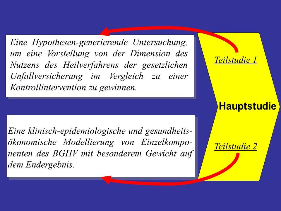 Hauptstudie Eine Hypothesen-generierende Untersuchung, um eine Vorstellung von der Dimension des Nutzens des Heilverfahrens der gesetzlichen Unfallver