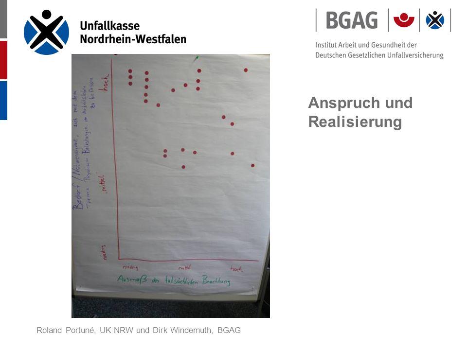 Roland Portuné, UK NRW und Dirk Windemuth, BGAG Anspruch und Realisierung