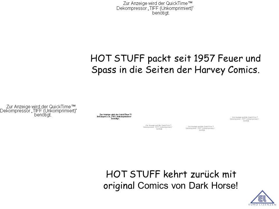 HOT STUFF packt seit 1957 Feuer und Spass in die Seiten der Harvey Comics. HOT STUFF kehrt zurück mit original Comics von Dark Horse!