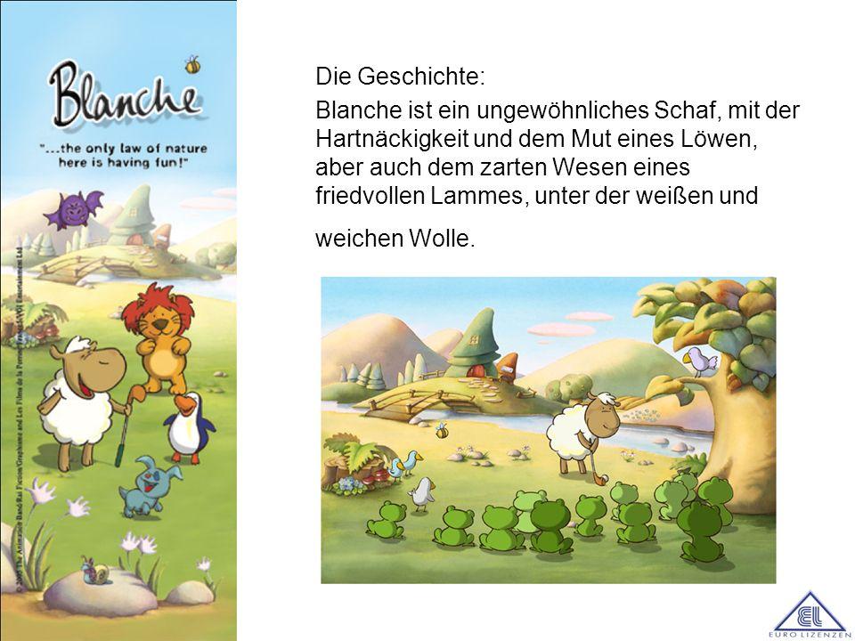 Die Geschichte: Blanche ist ein ungewöhnliches Schaf, mit der Hartnäckigkeit und dem Mut eines Löwen, aber auch dem zarten Wesen eines friedvollen Lam