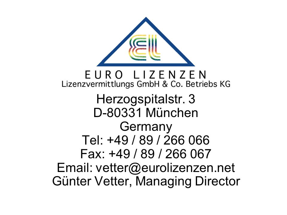 Alle Lizenzen durch: Herzogspitalstr.