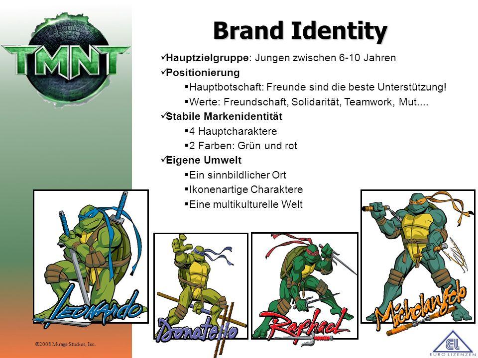TMNT - History Lizenzprodukte 600 Lizenznehmer weltweit.