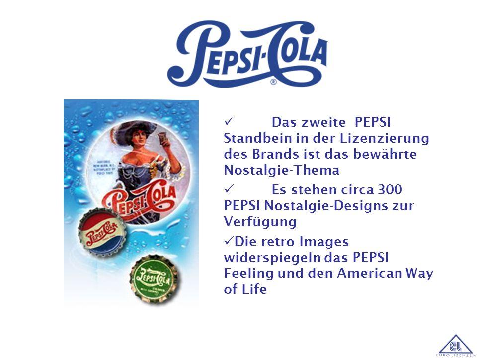 PEPSIs Zielgruppe ist klar definiert: Teens und Twens PEPSIs enge Verknüpfung mit Musik sowie Fun- und Extremsport PEPSI ist als Lizenzthema besonders
