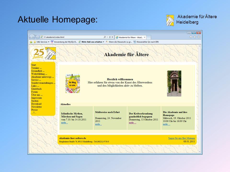 Akademie für Ältere Heidelberg Aktuelle Homepage: