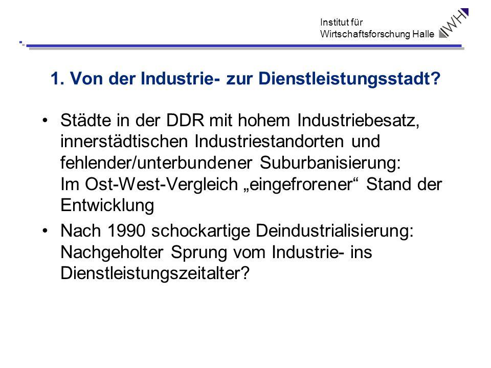 Institut für Wirtschaftsforschung Halle 1. Von der Industrie- zur Dienstleistungsstadt? Städte in der DDR mit hohem Industriebesatz, innerstädtischen