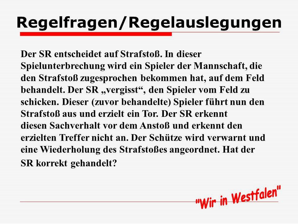 Regelfragen/Regelauslegung en Indirekter Freistoß, Feldverweis, wo Ball Seite 95
