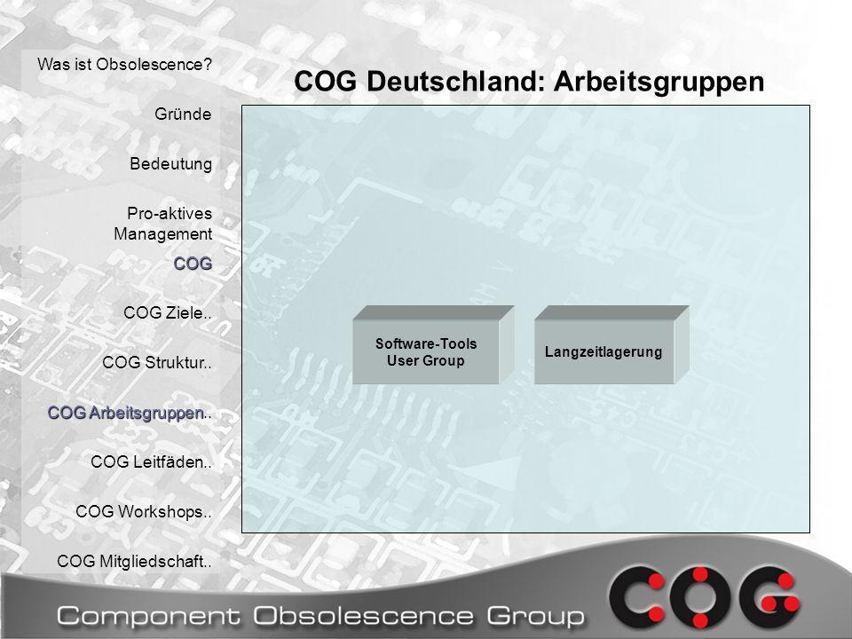 COG Deutschland: Arbeitsgruppen Was ist Obsolescence.