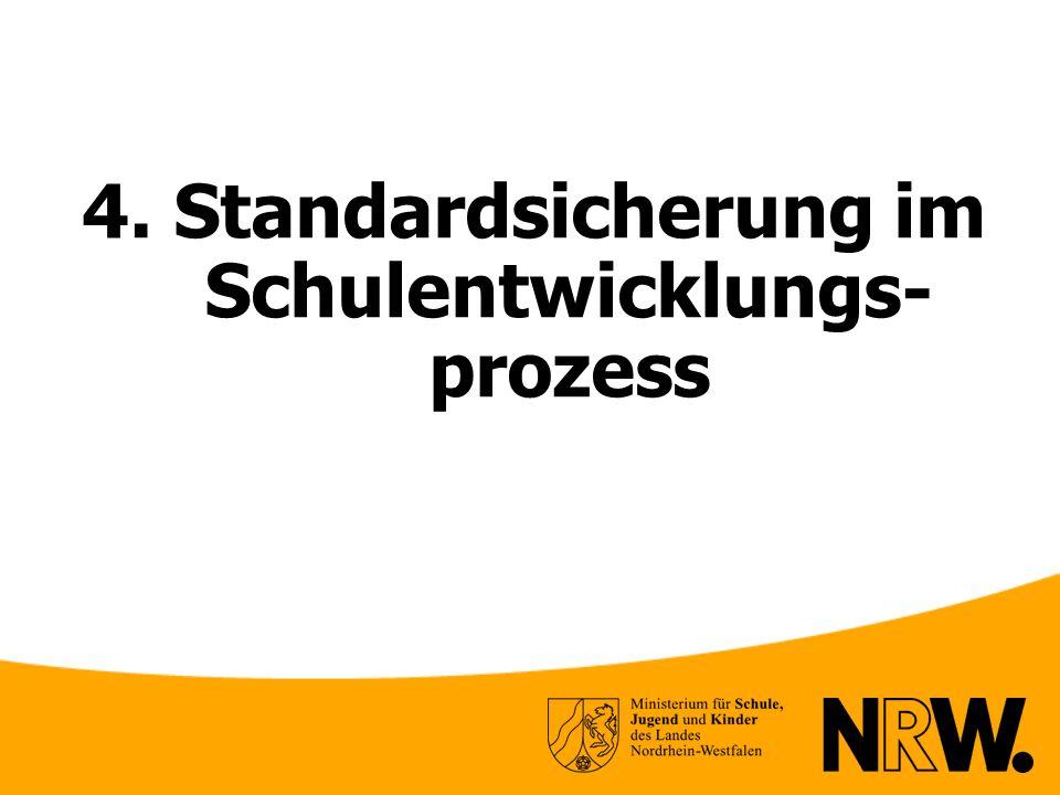 4. Standardsicherung im Schulentwicklungs- prozess