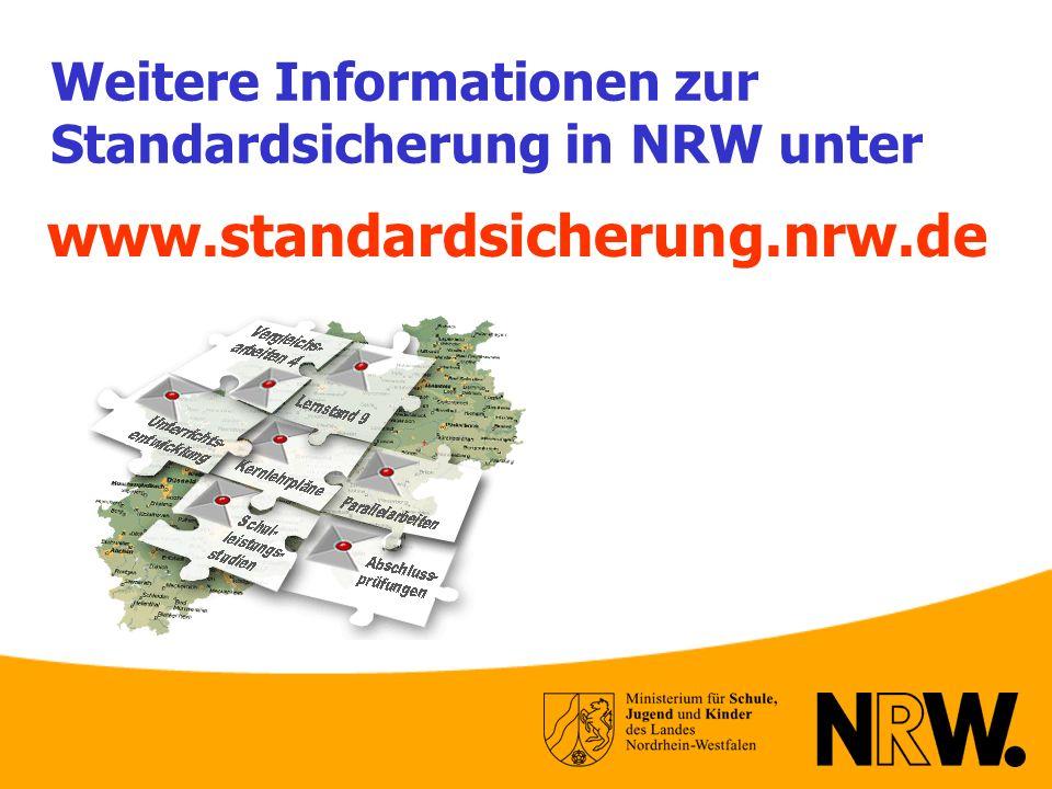 Weitere Informationen zur Standardsicherung in NRW unter www.standardsicherung.nrw.de