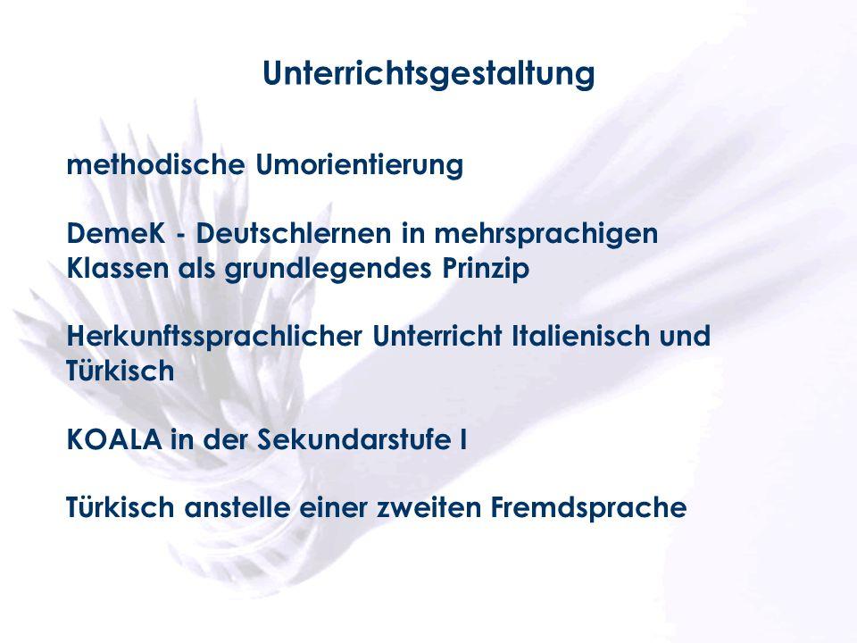 methodische Umorientierung DemeK - Deutschlernen in mehrsprachigen Klassen als grundlegendes Prinzip Herkunftssprachlicher Unterricht Italienisch und