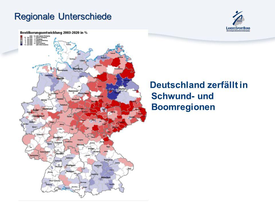 Regionale Unterschiede Deutschland zerfällt in Schwund- und Boomregionen
