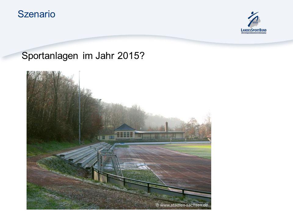 Szenario Sportanlagen im Jahr 2015?