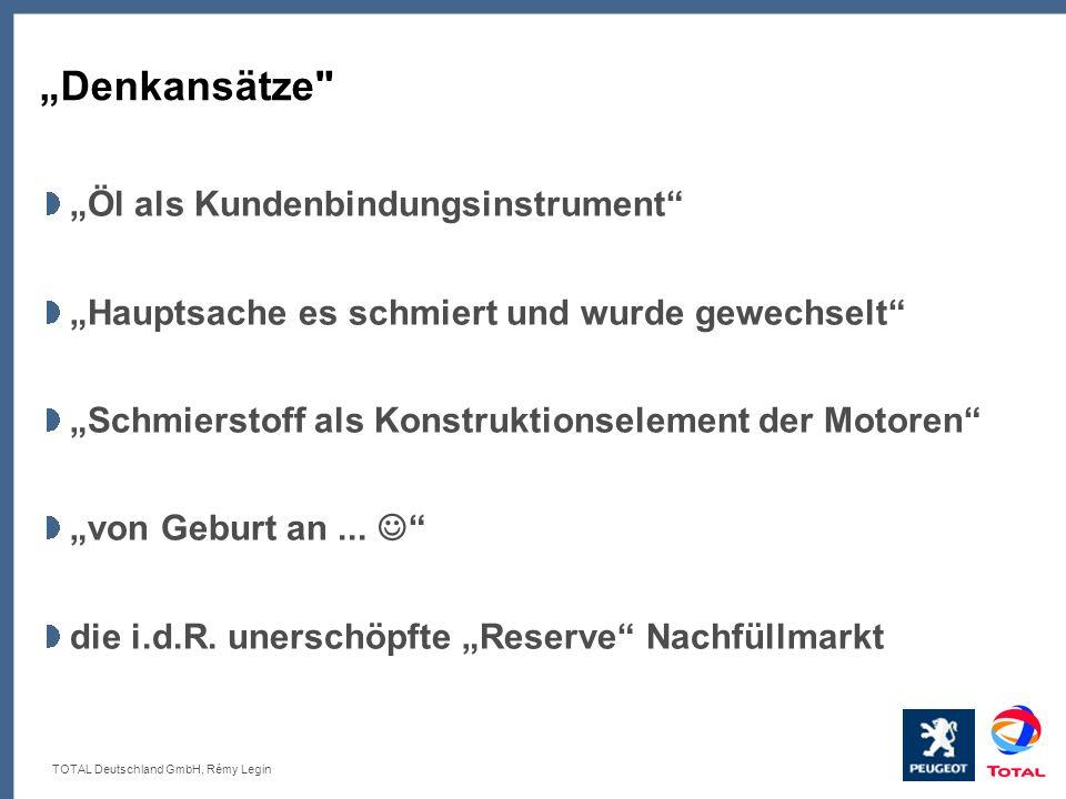 TOTAL Deutschland GmbH, Rémy Legin Denkansätze