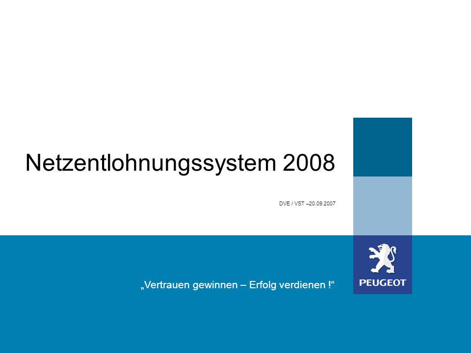 DVE / VST –20.09.2007 Vertrauen gewinnen – Erfolg verdienen ! Netzentlohnungssystem 2008