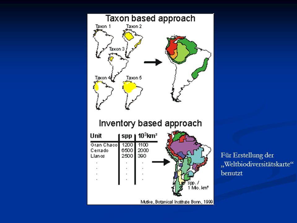 Für Erstellung der Weltbiodiversitätskarte benutzt