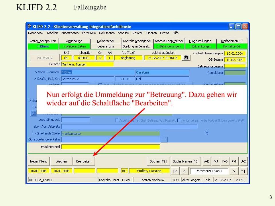 KLIFD 2.2 3 Falleingabe