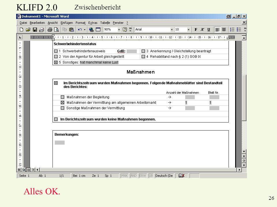 KLIFD 2.0 Zwischenbericht Alles OK. 26