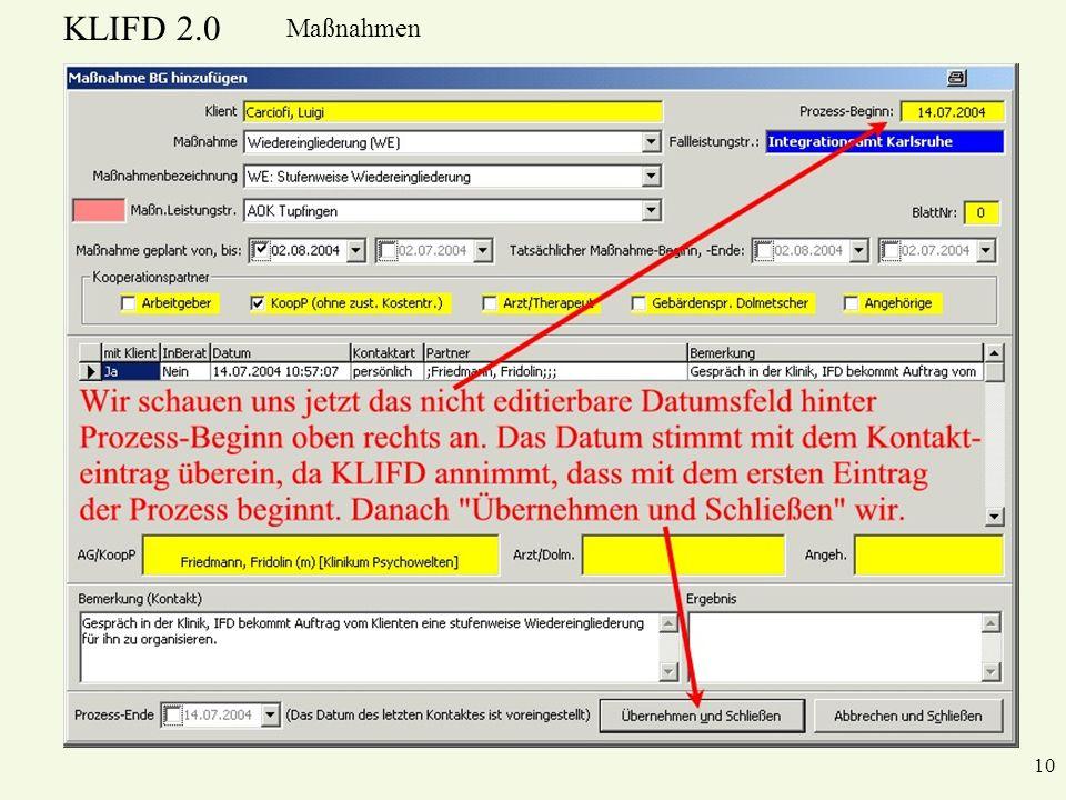 KLIFD 2.0 Maßnahmen 10