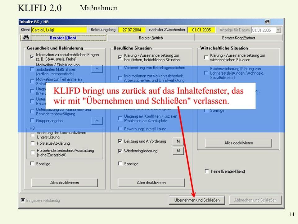 KLIFD 2.0 Maßnahmen 11