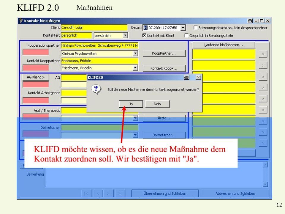 KLIFD 2.0 Maßnahmen 12
