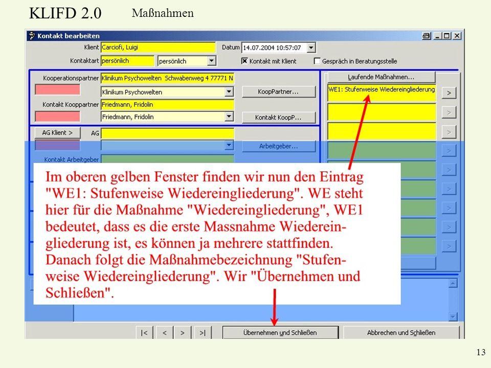 KLIFD 2.0 Maßnahmen 13