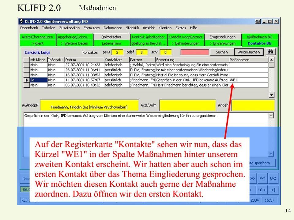 KLIFD 2.0 Maßnahmen 14